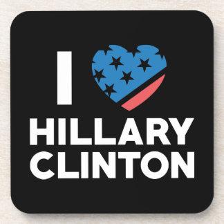 Amo a Hillary Clinton Posavasos De Bebidas