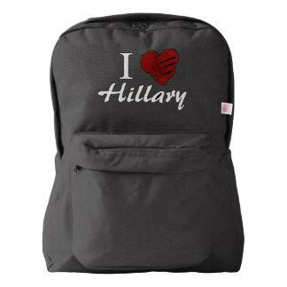 Amo a Hillary Mochila