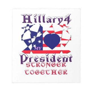 Amo a Hillary para los E.E.U.U. que presidente We Libreta Para Notas