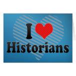 Amo a historiadores tarjetón