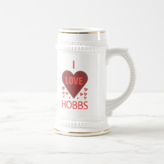 Amo a Hobbs nanómetro Jarra De Cerveza