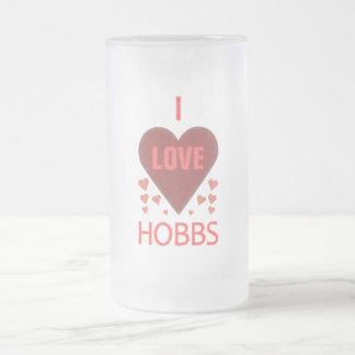 Amo a Hobbs nanómetro Jarra De Cerveza Esmerilada