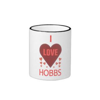 Amo a Hobbs nanómetro Taza De Dos Colores