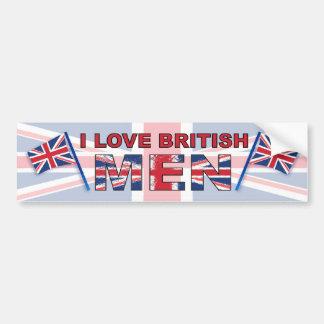 Amo a hombres británicos pegatina para auto