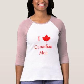 Amo a hombres canadienses camisetas