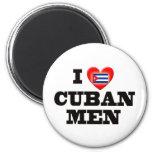 Amo a hombres cubanos imán de nevera