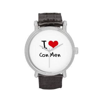 Amo a hombres de estafa relojes de mano