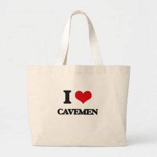 Amo a hombres de las cavernas bolsa de mano