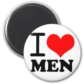 Amo a hombres imán redondo 5 cm