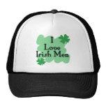Amo a hombres irlandeses gorras de camionero