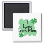 Amo a hombres irlandeses imán de frigorifico