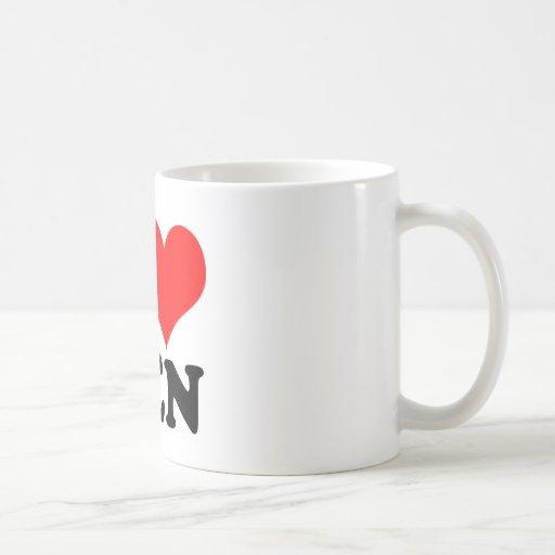 Amo a hombres taza de café