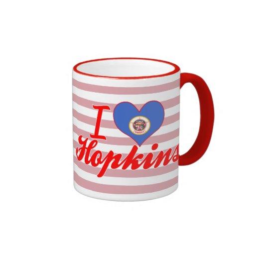 Amo a Hopkins, Minnesota Taza A Dos Colores