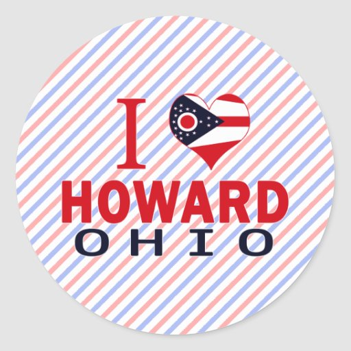 Amo a Howard, Ohio Pegatina Redonda