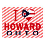 Amo a Howard, Ohio Tarjetas Postales