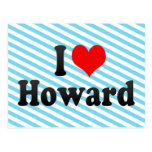 Amo a Howard Tarjetas Postales