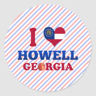 Amo a Howell, Georgia Pegatina Redonda