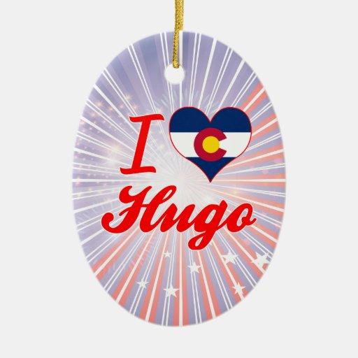 Amo a Hugo, Colorado Ornamento Para Reyes Magos