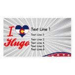 Amo a Hugo, Colorado Plantilla De Tarjeta Personal