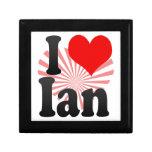 Amo a Ian Cajas De Regalo