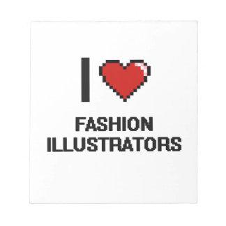 Amo a ilustradores de la moda blocs de papel
