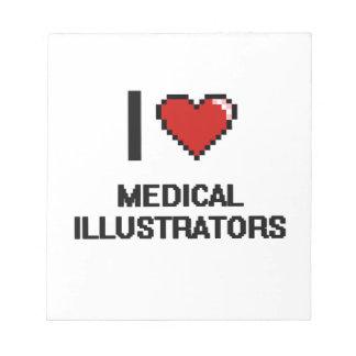 Amo a ilustradores médicos blocs de papel
