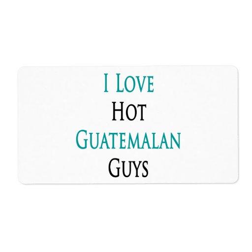 Amo a individuos guatemaltecos calientes etiqueta de envío