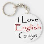 Amo a individuos ingleses llavero