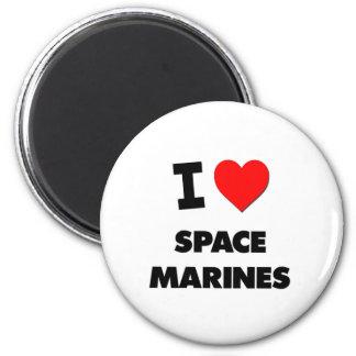 Amo a infantes de marina del espacio imán redondo 5 cm