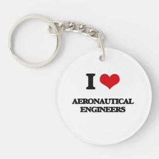 Amo a ingenieros aeronáuticos llavero