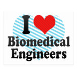 Amo a ingenieros biomédicos tarjetas postales