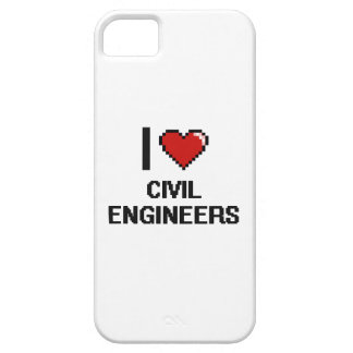 Amo a ingenieros civiles iPhone 5 Case-Mate cárcasa
