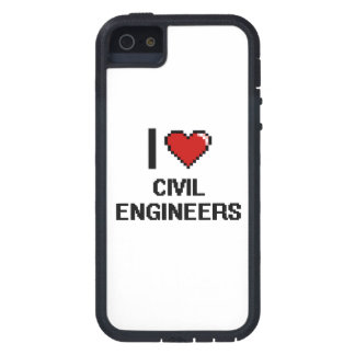 Amo a ingenieros civiles iPhone 5 Case-Mate cárcasas