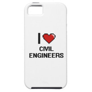 Amo a ingenieros civiles iPhone 5 fundas