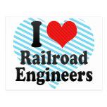 Amo a ingenieros de ferrocarril postales