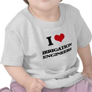 Amo a ingenieros de la irrigación camiseta