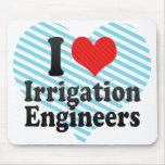 Amo a ingenieros de la irrigación tapetes de ratones