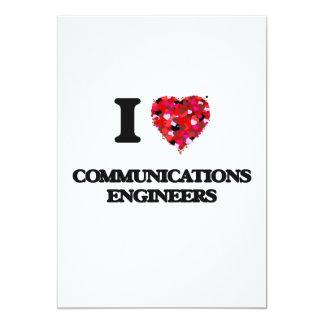 """Amo a ingenieros de las comunicaciones invitación 5"""" x 7"""""""