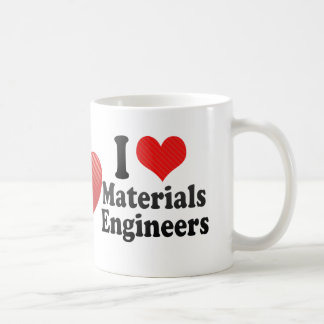 Amo a ingenieros de los materiales taza de café
