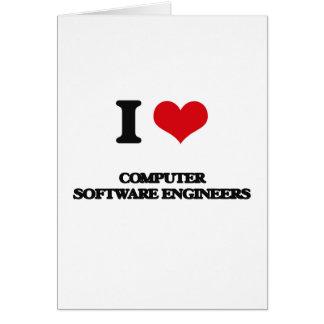 Amo a ingenieros de los programas informáticos tarjeta de felicitación