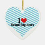 Amo a ingenieros de sonido ornamentos para reyes magos
