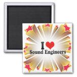 Amo a ingenieros de sonido iman para frigorífico
