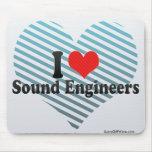 Amo a ingenieros de sonido tapetes de ratones