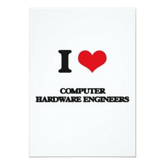 Amo a ingenieros del hardware invitación 12,7 x 17,8 cm