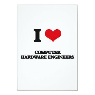 Amo a ingenieros del hardware invitación 8,9 x 12,7 cm