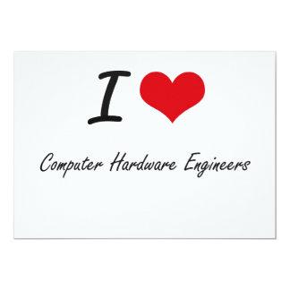 """Amo a ingenieros del hardware invitación 5"""" x 7"""""""