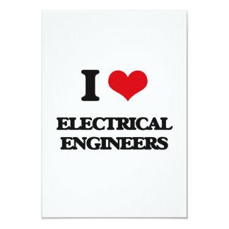 """Amo a ingenieros eléctricos invitación 3.5"""" x 5"""""""
