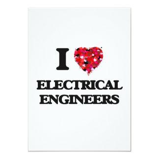 """Amo a ingenieros eléctricos invitación 5"""" x 7"""""""