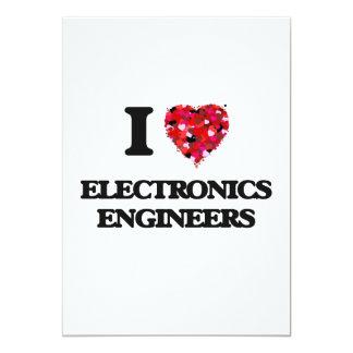 """Amo a ingenieros electrónicos invitación 5"""" x 7"""""""