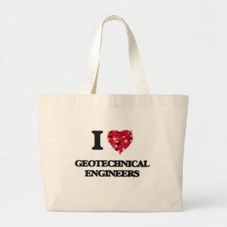 Amo a ingenieros geotécnicos bolsa tela grande